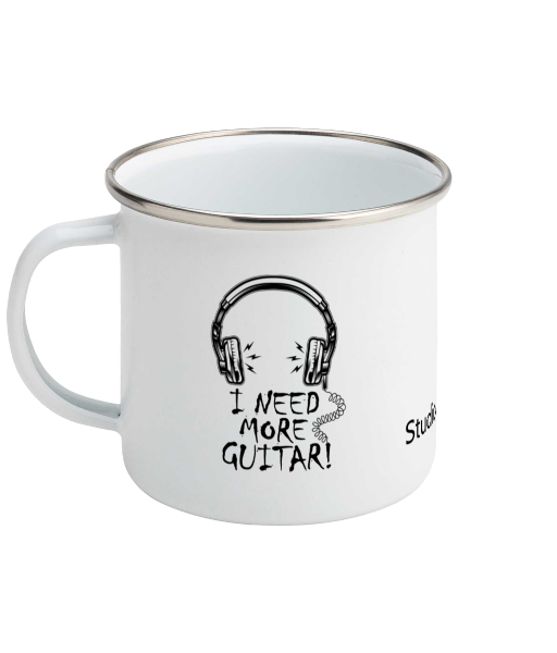 More Guitar ! - Enamel Mug